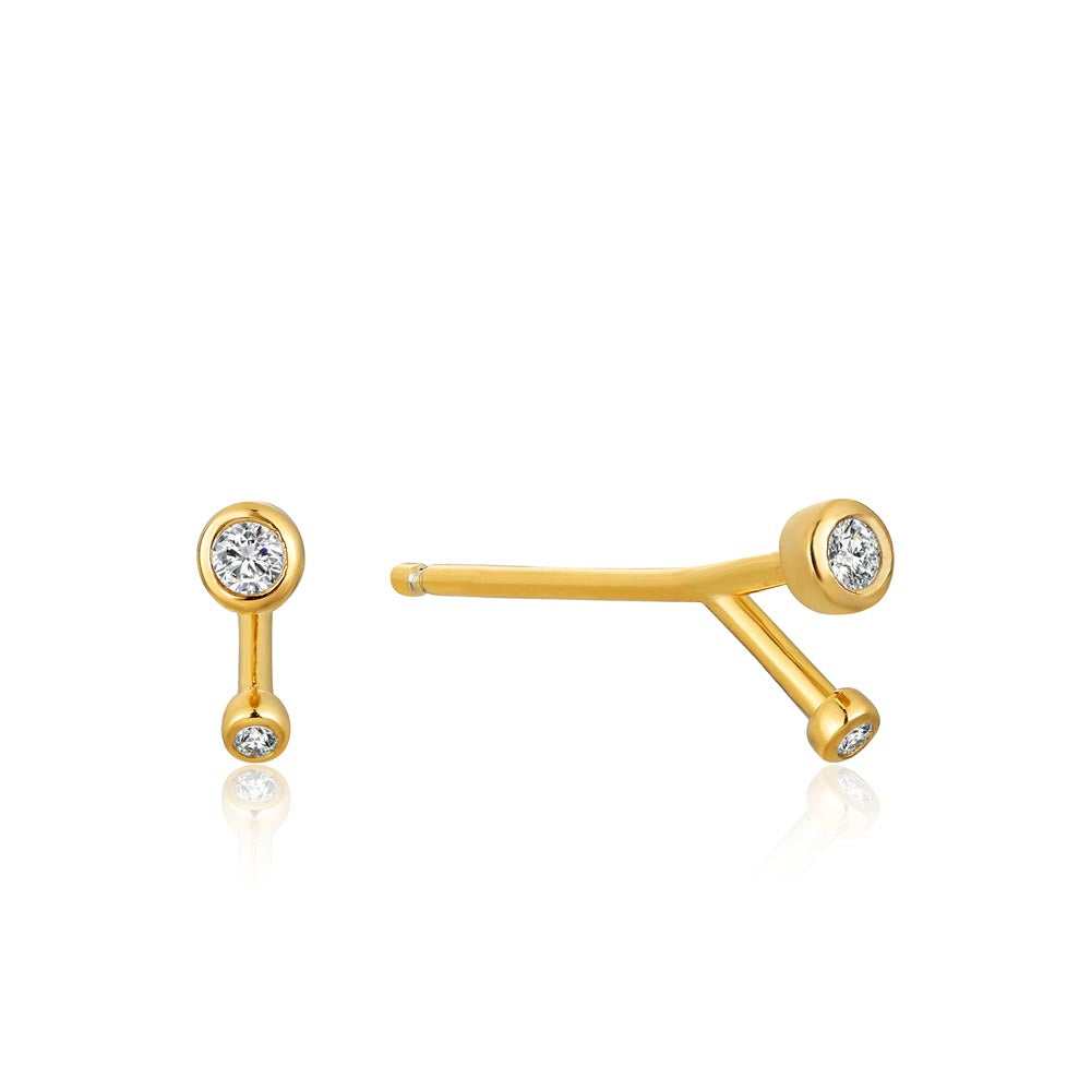 Shimmer Double Stud Earrings - Ania Haie Jewellery