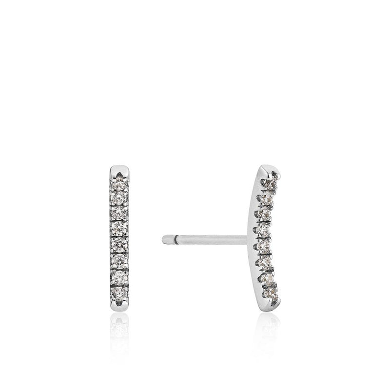 Shimmer Pavé Bar Stud Earrings - Ania Haie Jewellery