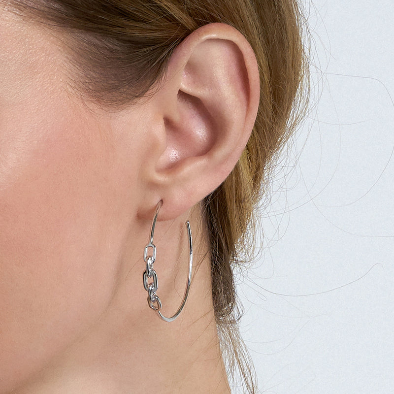 Earrings: Links Hoop Earrings by Ania Haie Australia