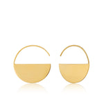 Gold Geometry Hoop Earrings