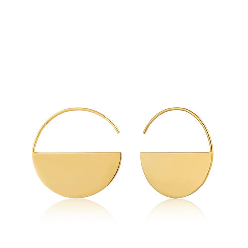 Earrings: Gold Geometry Hoop Earrings by Ania Haie Australia