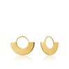 Geometry Fan Hoop Earrings - Ania Haie Jewellery