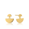 Earrings: Gold Geometry Ear Jackets by Ania Haie Australia