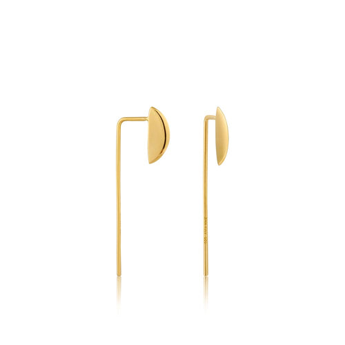 Earrings: Gold Geometry Solid Drop Earrings by Ania Haie Australia
