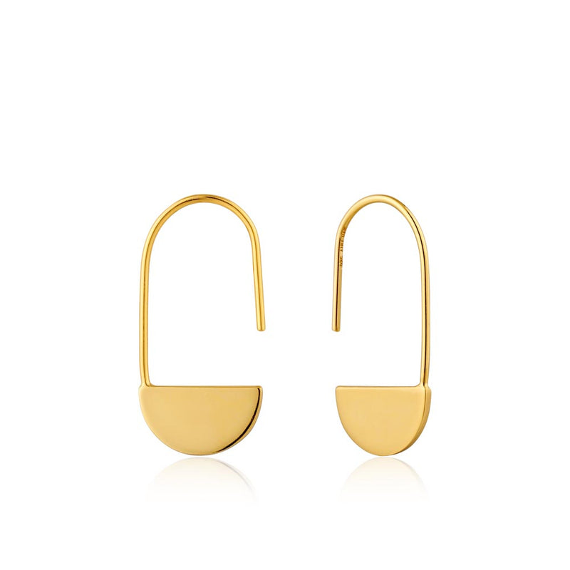 Earrings: Gold Geometry Drop Earrings by Ania Haie Australia
