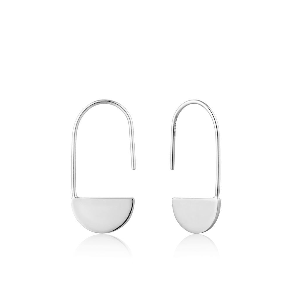 Silver Geometry Drop Earrings