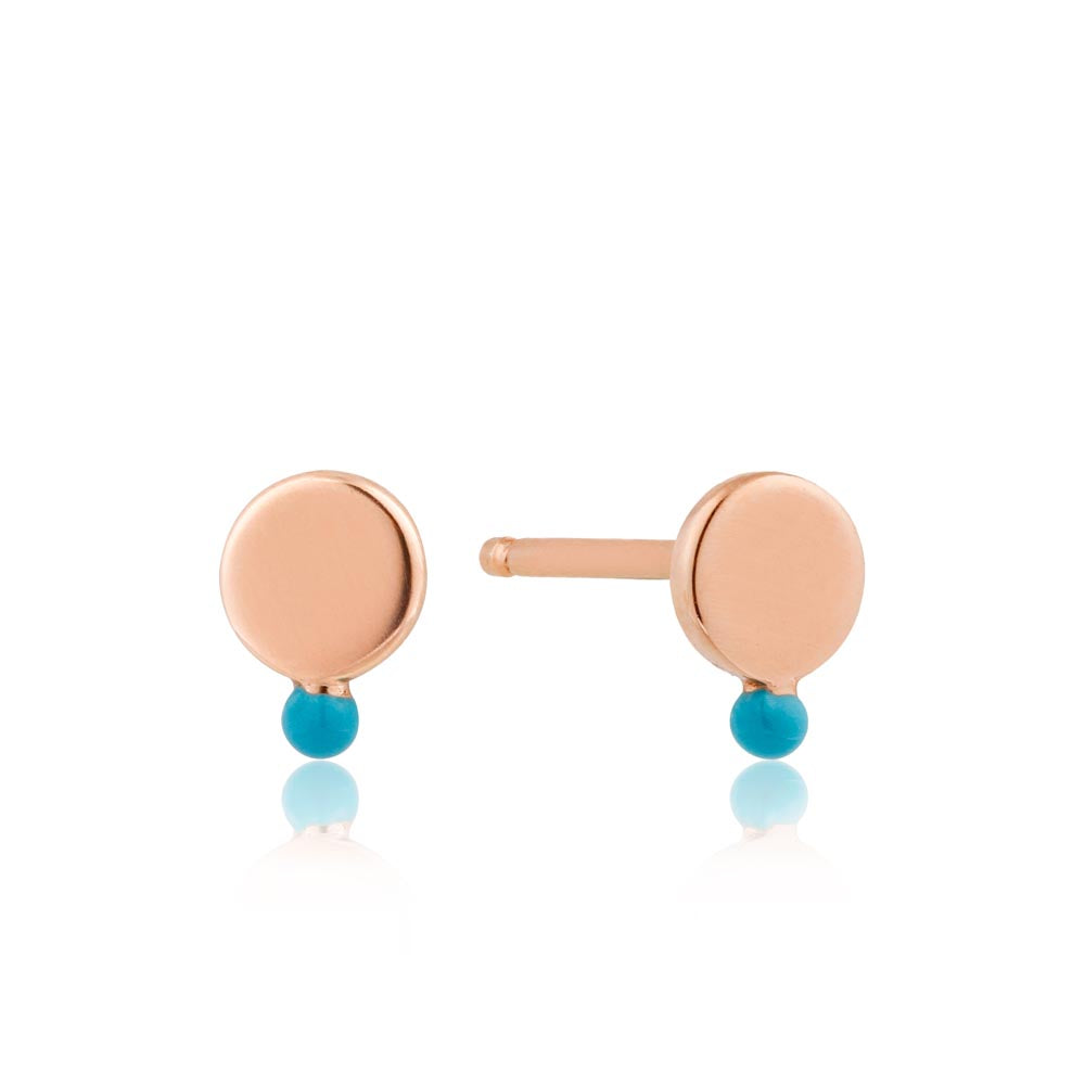 Dotted Disc Stud Earrings - Ania Haie Jewellery