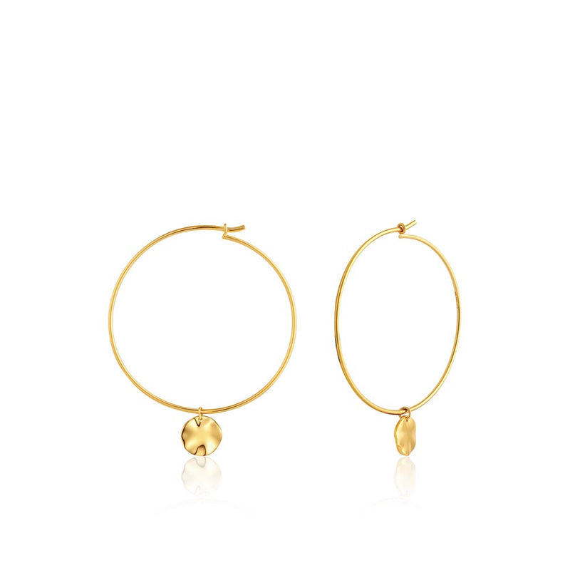 Ripple Hoop Earrings - Ania Haie Jewellery