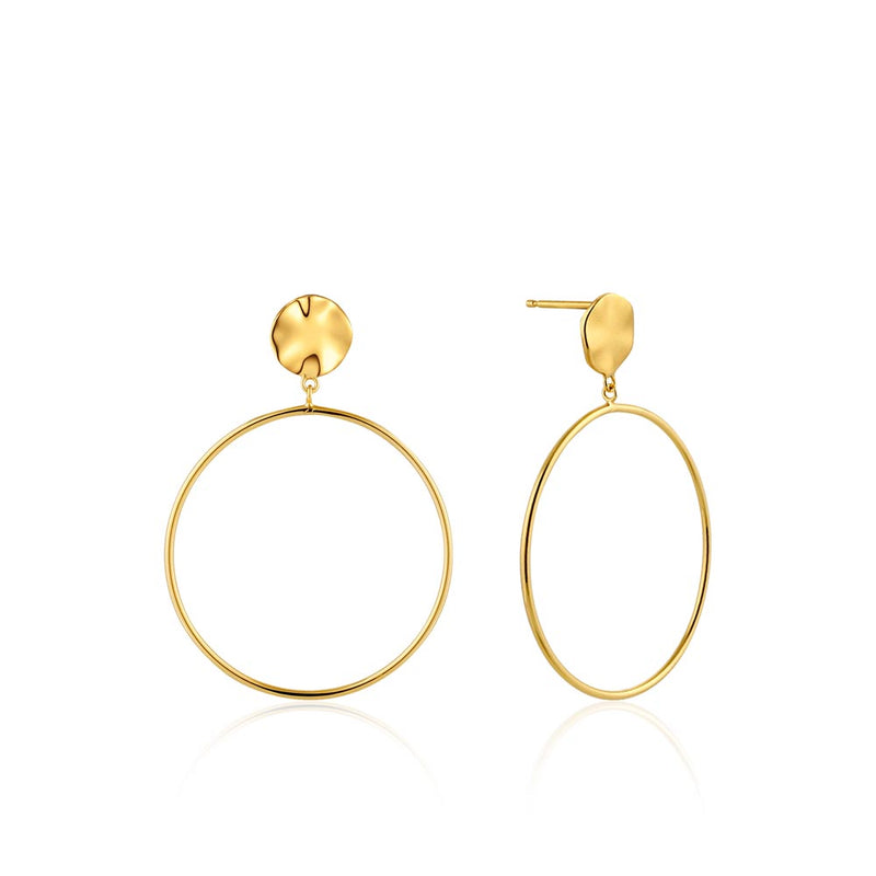 Ripple Front Hoop Earrings - Ania Haie Jewellery