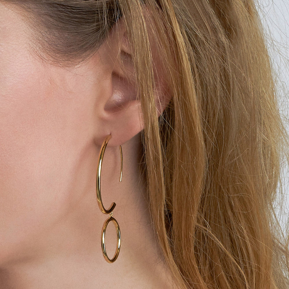 Earrings: Double Hoop Earrings by Ania Haie Australia