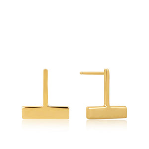 Drop T Bar Stud Earrings - Ania Haie Jewellery