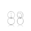 Earrings: Silver Double Circle Front Earrings by Ania Haie Australia