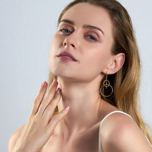 Solid Drop Earrings - Ania Haie Jewellery