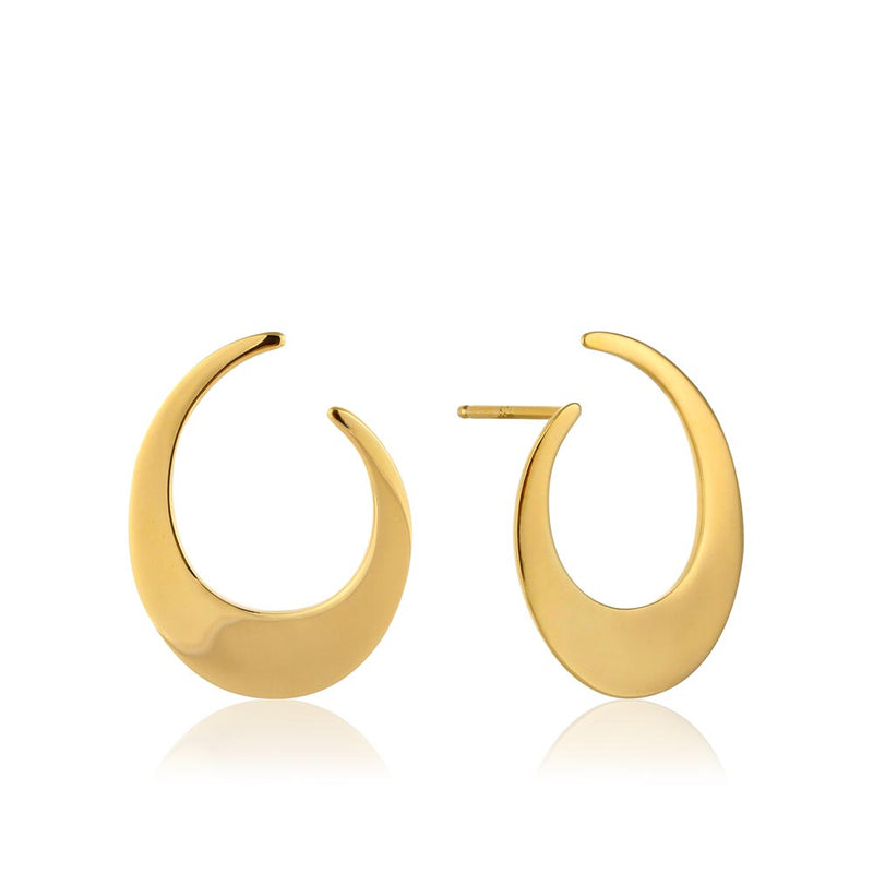 Earrings: Oval Twist Earrings by Ania Haie Australia