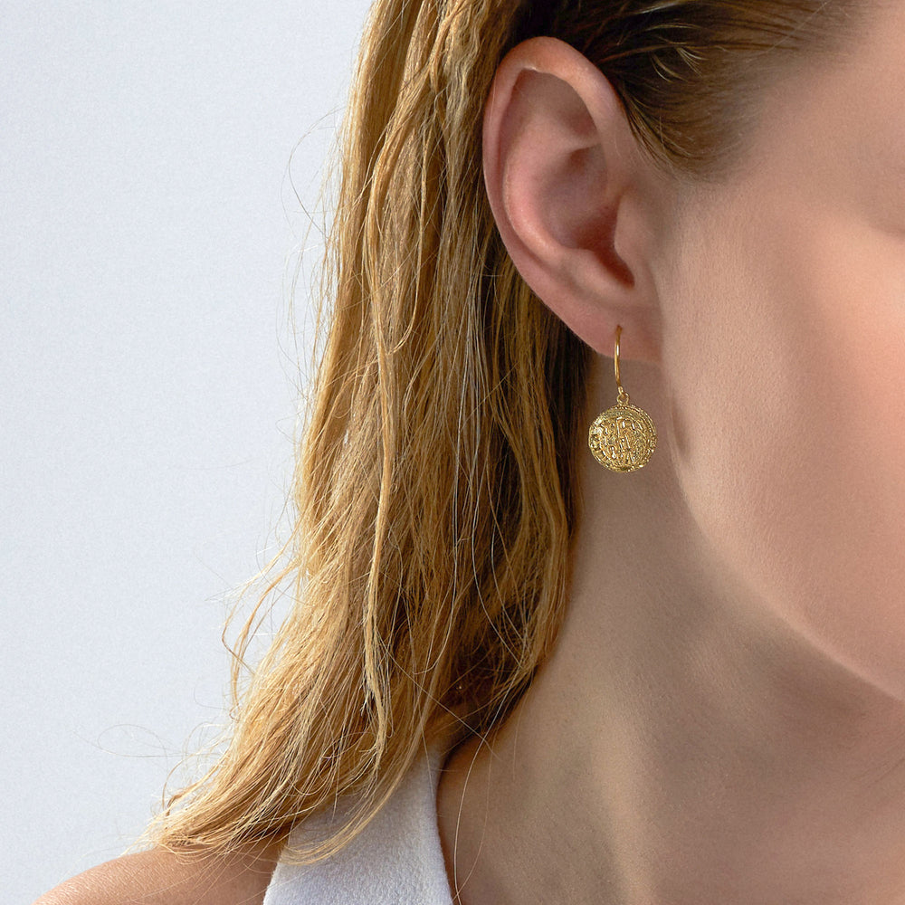 Earrings: Emblem Hook Earrings by Ania Haie Australia