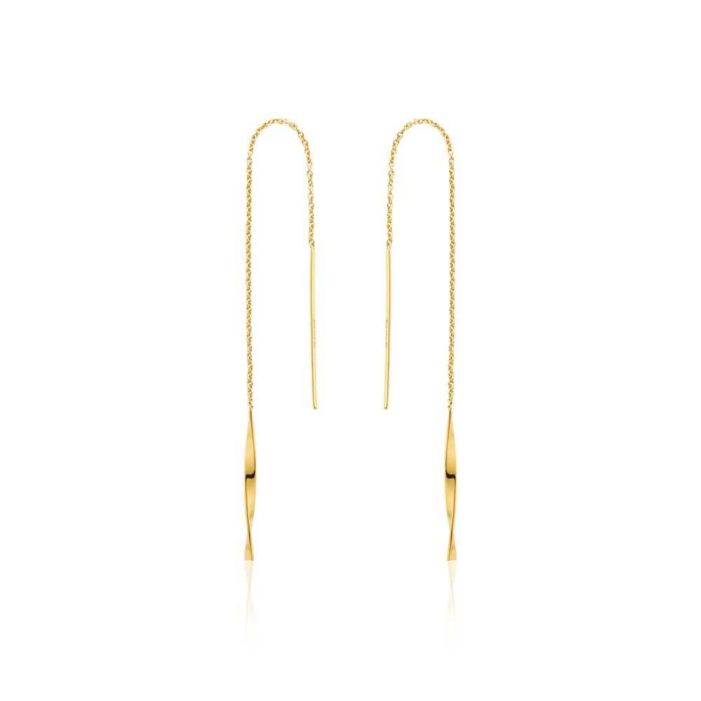 Earrings: Gold Helix Threader Earrings by Ania Haie Australia