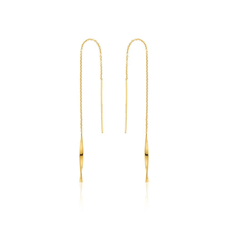 Helix Threader Earrings - Ania Haie Jewellery