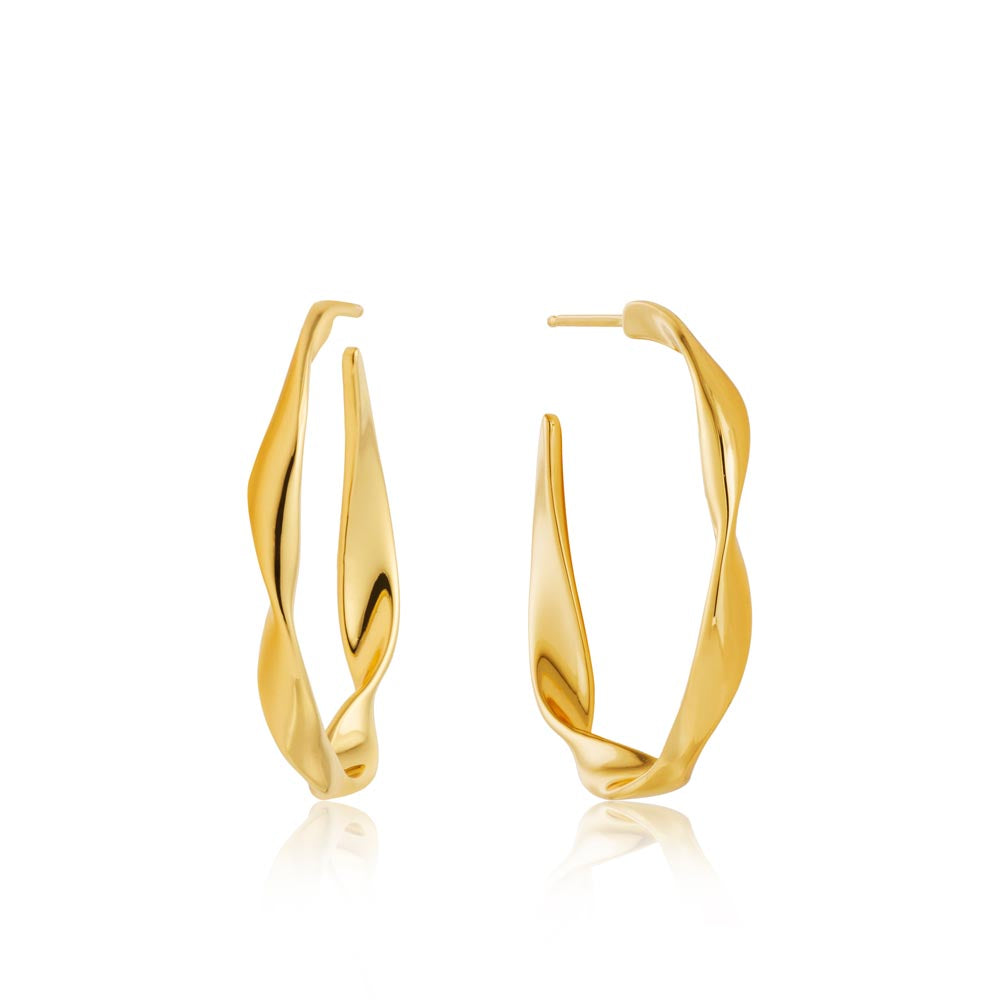 Twist Hoop Earrings - Ania Haie Jewellery
