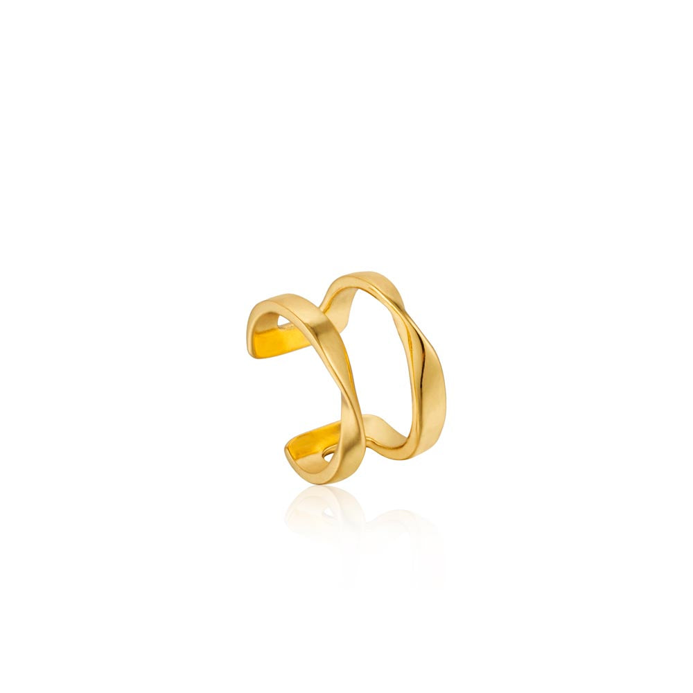 Load image into Gallery viewer, Earrings: Gold Twist Ear Cuff by Ania Haie Australia