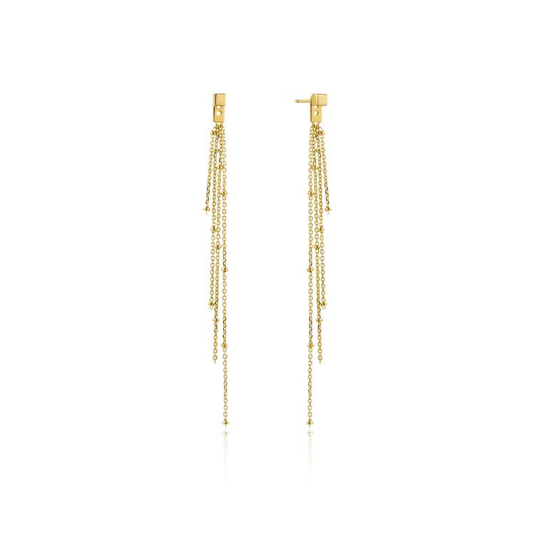 Tassel Drop Studd Earrings - Ania Haie Jewellery