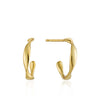 Earrings: Gold Twist Mini Hoop Earrings by Ania Haie Australia