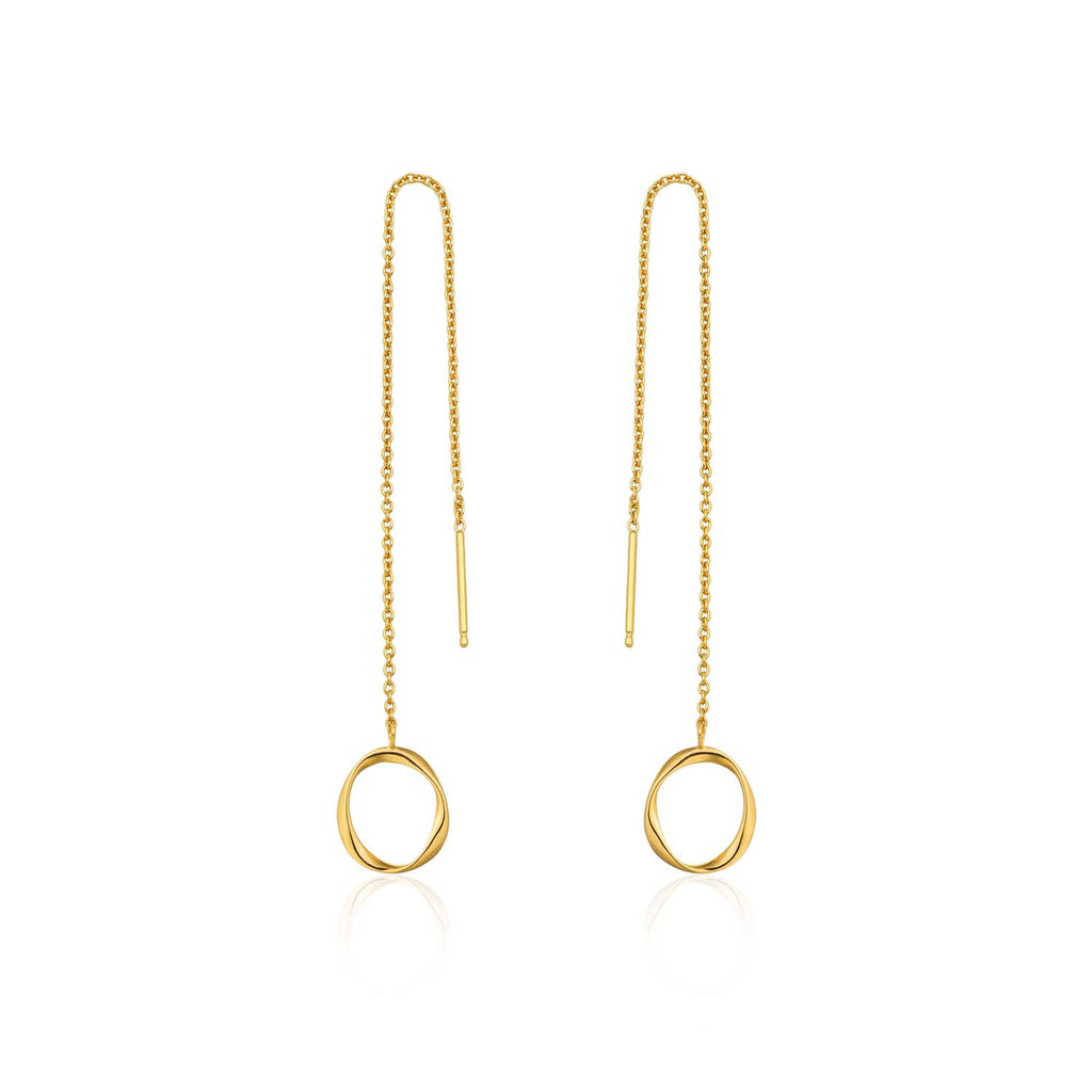 Swirl Threader Earrings - Ania Haie Jewellery