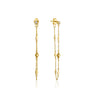 Earrings: Gold Bohemia Chain Stud Earrings by Ania Haie Australia