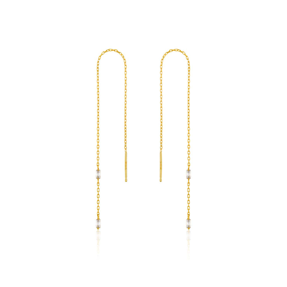 Gold Glow Threader Earrings