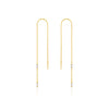 Earrings: Gold Glow Threader Earrings by Ania Haie Australia