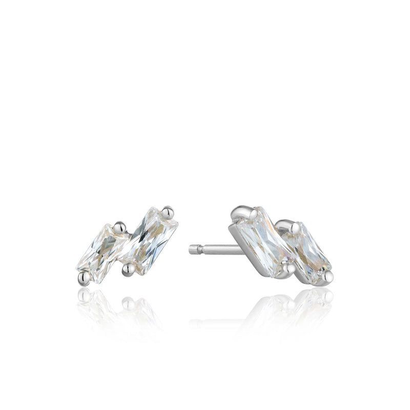Earrings: Silver Glow Stud Earrings by Ania Haie Australia