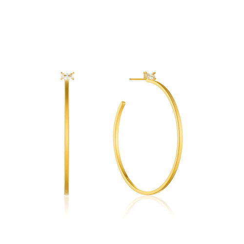 Earrings: Gold Glow Hoop Earrings by Ania Haie Australia