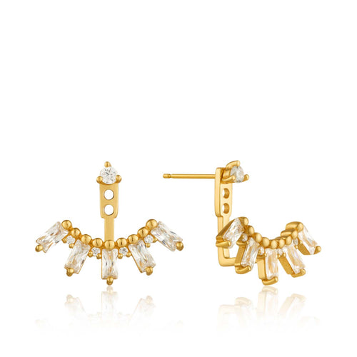 Earrings: Gold Cluster Ear Jackets by Ania Haie Australia