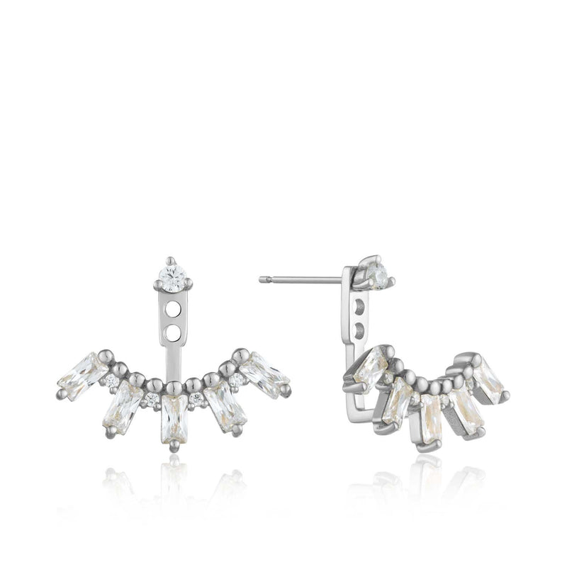 Earrings: Silver Cluster Ear Jackets by Ania Haie Australia