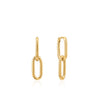 Earrings: Gold Cable Link Earrings by Ania Haie Australia