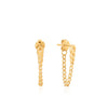 Earrings: Gold Curb Chain Stud Earrings by Ania Haie Australia