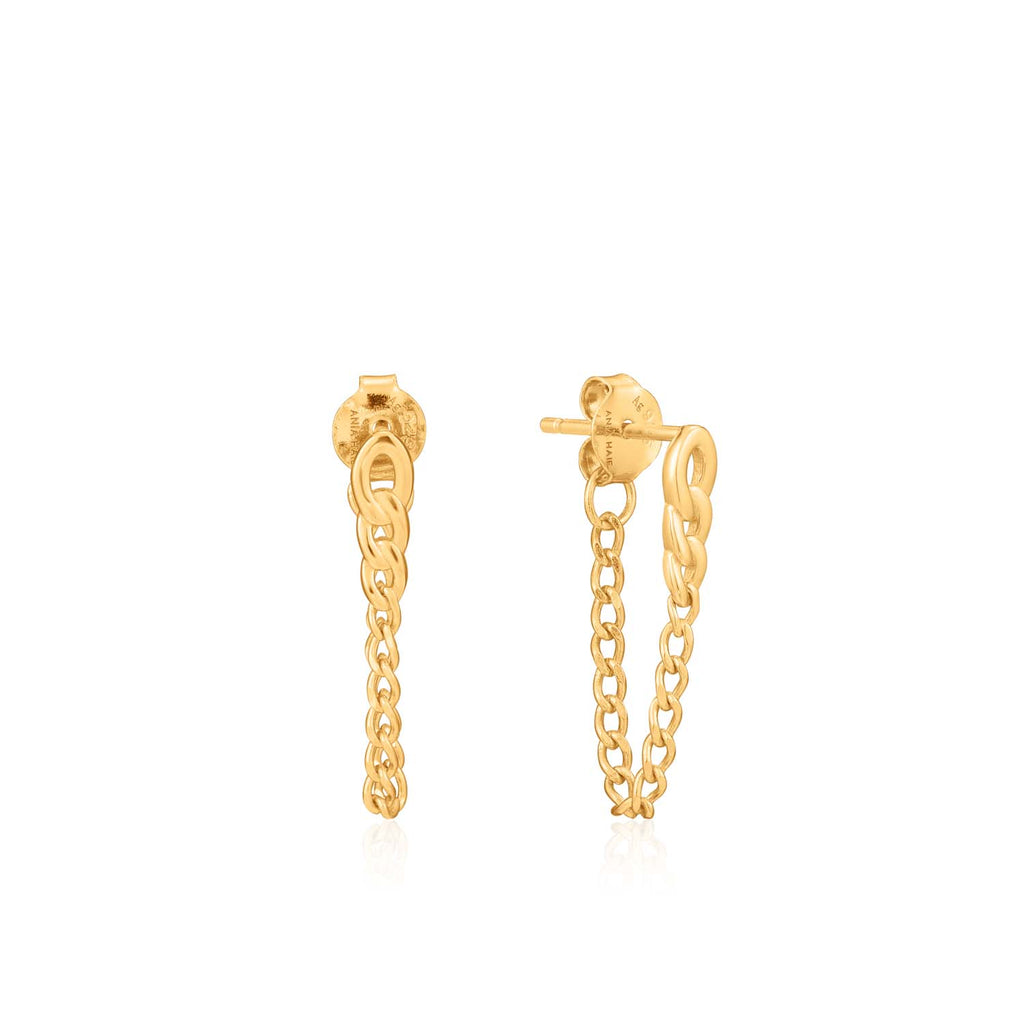 Curb Chain Stud Earrings - Ania Haie Jewellery