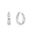 Earrings: Silver Figaro Chain Hoop Earrings by Ania Haie Australia