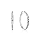 Earrings: Silver Curb Chain Hoop Earrings by Ania Haie Australia