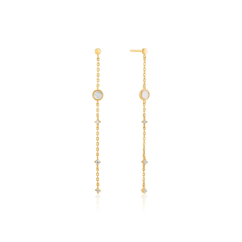 Mother Of Pearl Drop Earrings - Ania Haie Jewellery