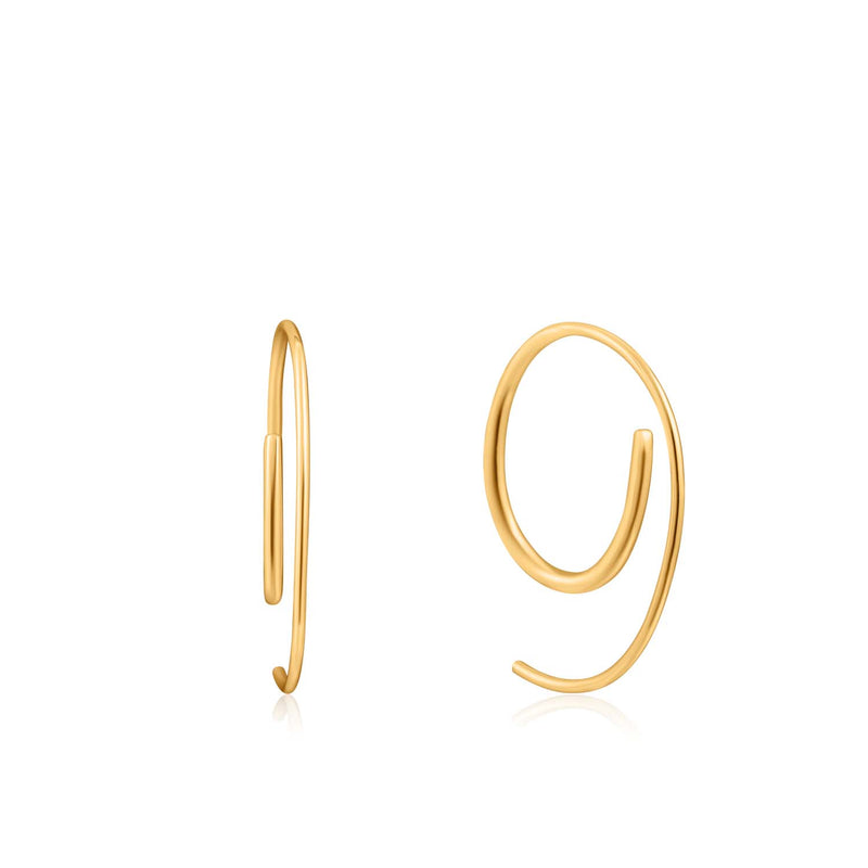 Earrings: Gold Twist Through Earrings by Ania Haie Australia