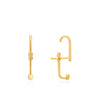 Earrings: Gold Dot Ear Jacket With Lobe Hook by Ania Haie Australia
