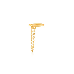 Load image into Gallery viewer, Earrings: Gold Drop Chain Ear Cuff by Ania Haie Australia