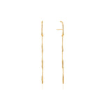 Earrings: Gold Slinky Drop Earrings by Ania Haie Australia