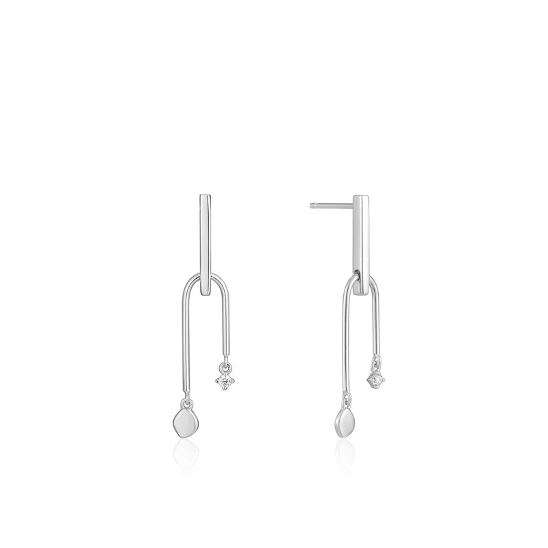 Double Drop Stud Earrings - Ania Haie Jewellery