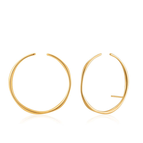 Earrings: Gold Stud Hoop Ear Cuff by Ania Haie Australia