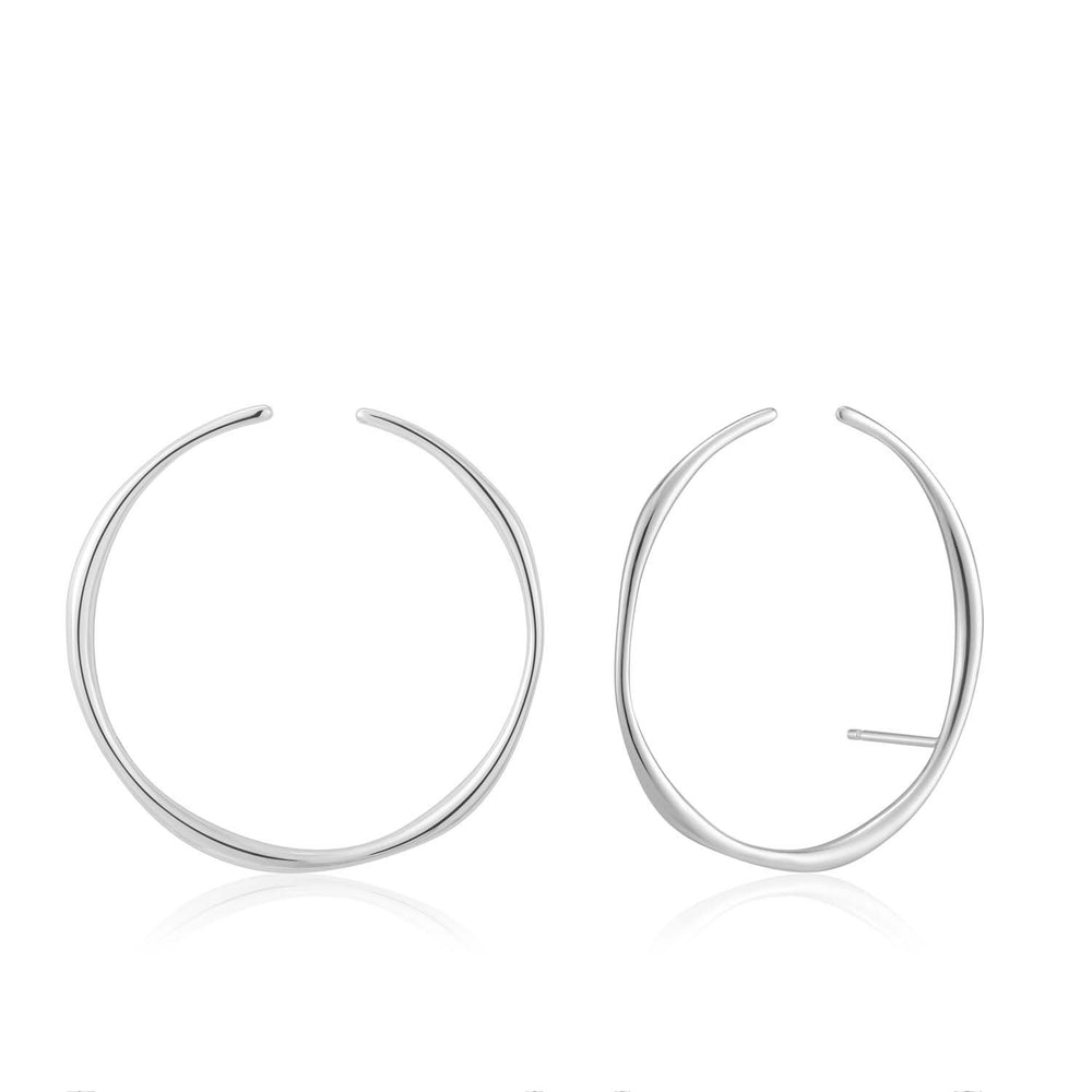 Earrings: Silver Stud Hoop Ear Cuff by Ania Haie Australia