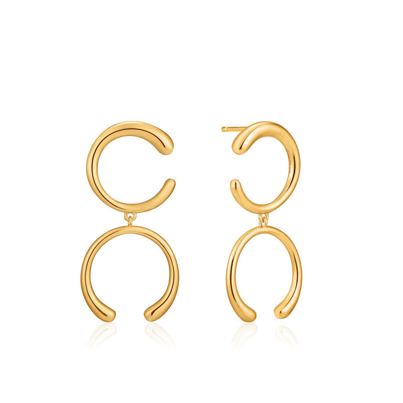 Luxe Double Curve Earrings - Ania Haie Jewellery