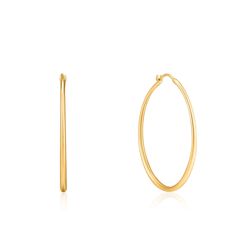 Earrings: Gold Luxe Hoop Earrings by Ania Haie Australia