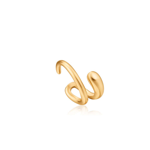 Earrings: Gold Luxe Ear Cuff by Ania Haie Australia