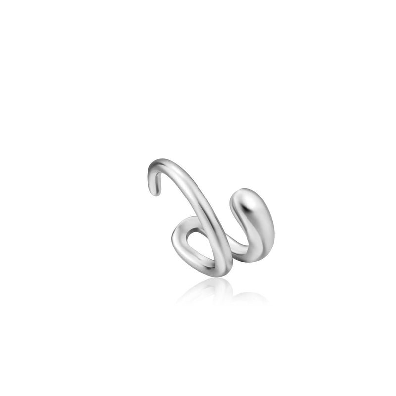Earrings: Silver Luxe Ear Cuff by Ania Haie Australia